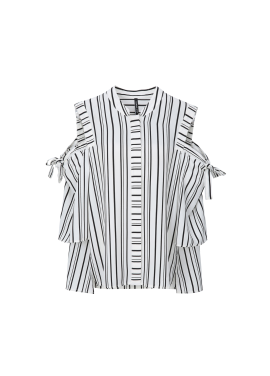 Stripe Ribbon Blouse [기희현 착용]