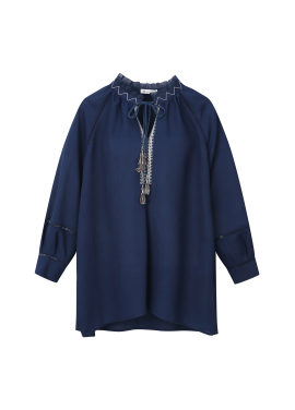 Tassel Embroidered Blouse