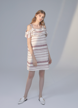 ★ Stripe Off-Sholder Dress