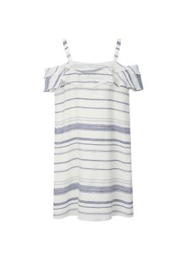 Stripe Off-Sholder Dress