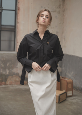 [YouNess] Trench Shirt_BK