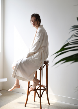 [ADD ROBE]W Terry Lounge & Bath Robe_Ivory