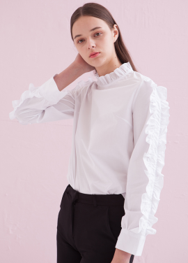 [ADDSENSE] ROLLING FRILL BLOUSE_WHITE