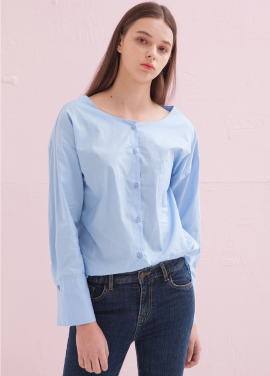 [ADDSENSE/50%SALE] LIP BASIC SHIRT_SKYBLUE