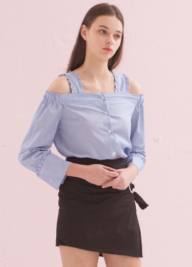 [ADDSENSE/50%SALE] GIRL WISH BLOUSE_BLUE