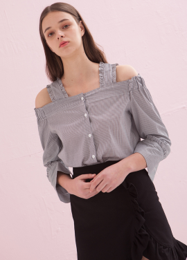 [ADDSENSE/50%SALE] GIRL WISH BLOUSE_BLACK