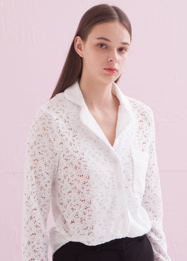 [ADDSENSE/50%SALE] PUNCHING LACE BLOUSE_WHITE