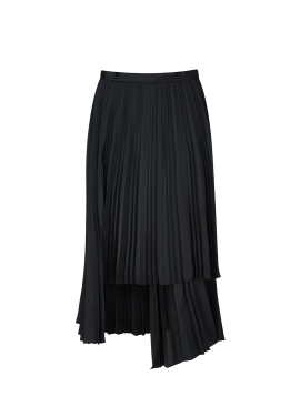 Pleats Unbalance Skirts