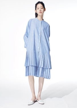 [인기상품]Amelie pleat prepy dress