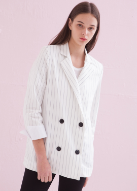 [ADDSENSE/50%SALE] DOUBLE BUCKET STRIPE JACKET
