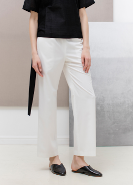 [SUE BALTER/단독 30% SALE]17 SUMMER SEMI WIDE BANDING PANTS_WHITE