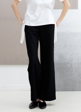 [SUE BALTER/단독 30% SALE]17 SUMMER SEMI WIDE BANDING PANTS_BLACK