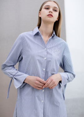 [SUE BALTER/단독 30% SALE]17 SUMMER WIDE CUFFS STRAP OVERSIZED SHIRT_STRIPE