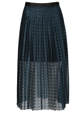 Punching Midi Skirt