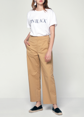 [PINBLACK/20%SALE] cocoon line cotton pants