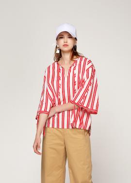 [PINBLACK/20%SALE] vivid stripe ribbon blouse