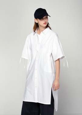 [PINBLACK/20%SALE] cotton shirt dress white