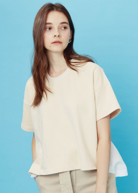 [EOM]pullover shirts_ivory / white