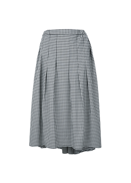 Big Gingham Check Pattern Long Skirts