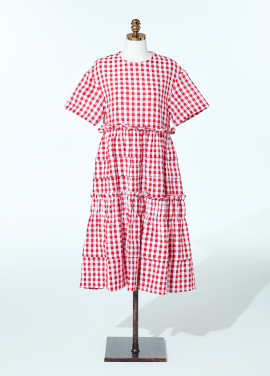 [신상품] Amelie gingham check dress red