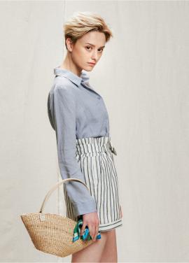 [05/31까지 5%할인+5%쿠폰]stripe frill lap half pants
