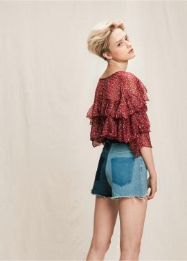 [05/31까지 5%할인+5%쿠폰]chiffon peal frill blouse