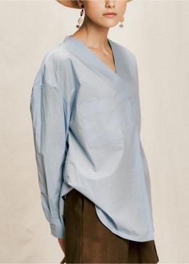 [05/31까지 5%할인+5%쿠폰]v neck pocket shirt