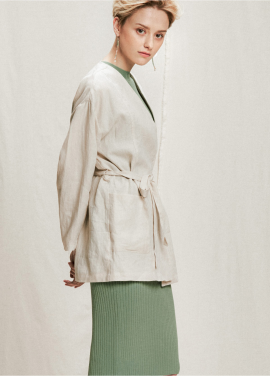 [05/31까지 5%할인+5%쿠폰]linen strap jacket