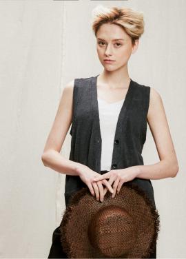 [05/31까지 5%할인+5%쿠폰]pocket linen vest