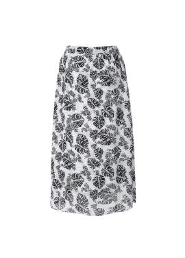 Leaf Print Bending Skirt