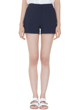 [MILLOGLEM/35%SALE]partial pleats shorts - navy