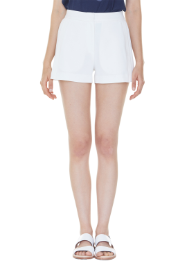 [MILLOGLEM/35%SALE]partial pleats shorts - ivory