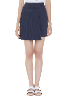 [MILLOGLEM/35%SALE]set pleats mini skirt - navy