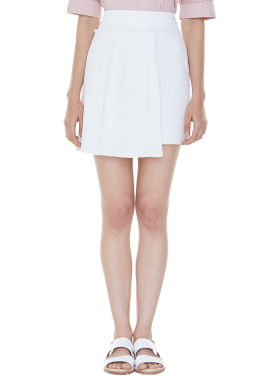 [MILLOGLEM/35%SALE]set pleats mini skirt - ivory