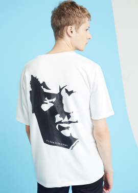 [MILLOGLEM/35%SALE]be a man t-shirts - white