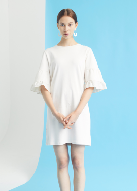 [MILLOGLEM/35%SALE]double sleeve chemise dress - cream