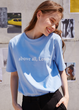 [RYUL+WAI/20%SALE]BLUE ABOVE ALL LOVE T_SHIRT