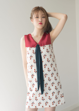 [MELTINGLOW/20%SALE] Memories Of The Girl.(Mot-Girl)_Sailer Collar Dress.