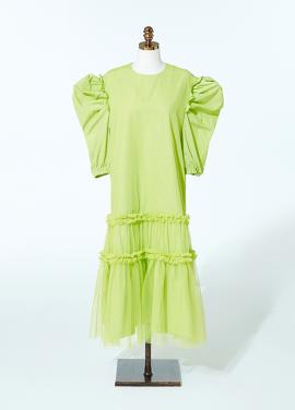 Amelie Vienna Dress Lime
