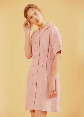 [erne/시즌오프 30% 할인]MARIE TAILORED ONEPIECE PINK