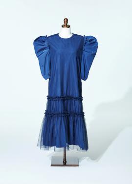 Amelie Vienna Dress Navy