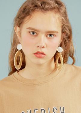 [erne/5% 할인] Nacre Rattan Earring