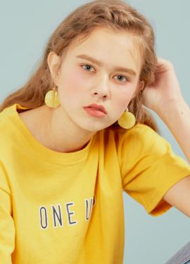 [erne/20% 할인]Yellow Chalcedony Earring