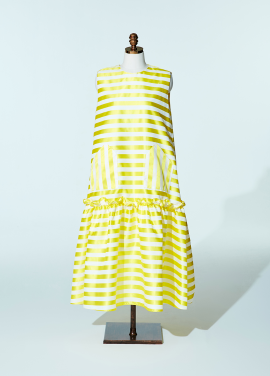 Amelie couture dress stripe
