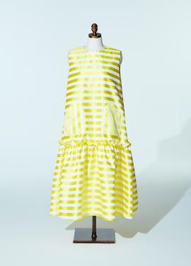 Amelie couture dress stripe