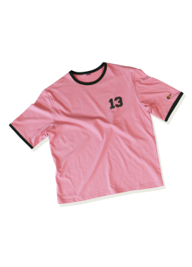 [SAINTLESS/30%] NUMBERING T-SHIRTS_PINK