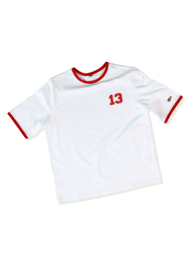 [SAINTLESS/30%] NUMBERING T-SHIRTS_WHITE