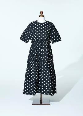 [최강희 원피스]Amelie half kangkang dot dress black