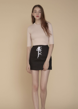 [ADDSENSE/50%SALE] CANVAS SKIRT_BLACK