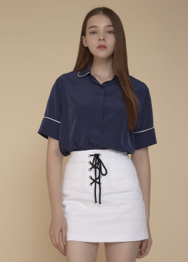 [ADDSENSE/50%SALE] CANVAS SKIRT_WHITE